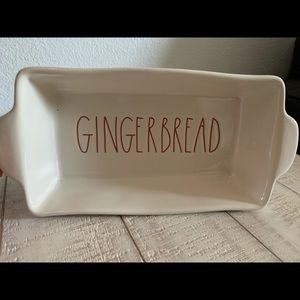 New Rae Dunn Gingerbread Ivory Baking Dish Loaf